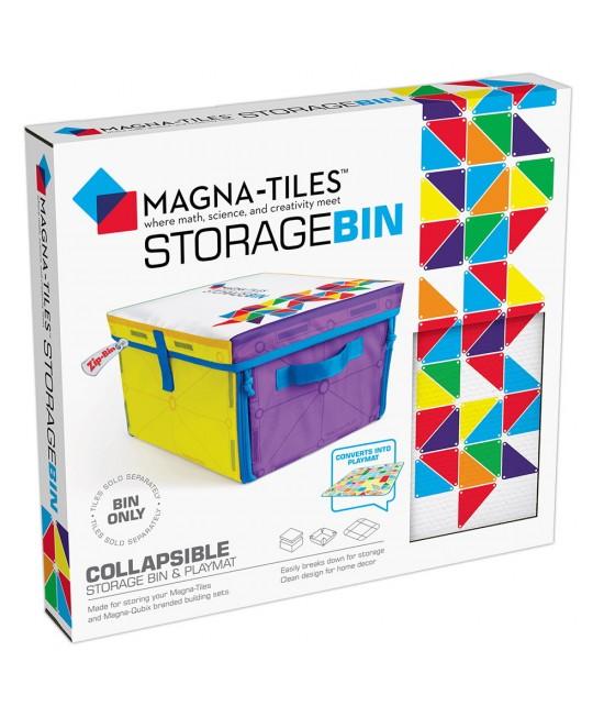 Cutie de depozitare și covor de joacă Magna-Tiles