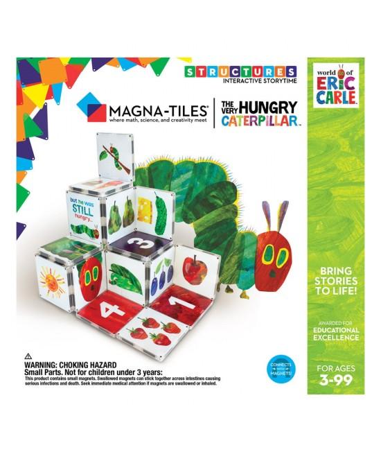 """Set Magna-Tiles Structures CreateOn Eric Carle """"Omida mâncăcioasă""""  - 16 piese magnetice de construcție imprimate"""