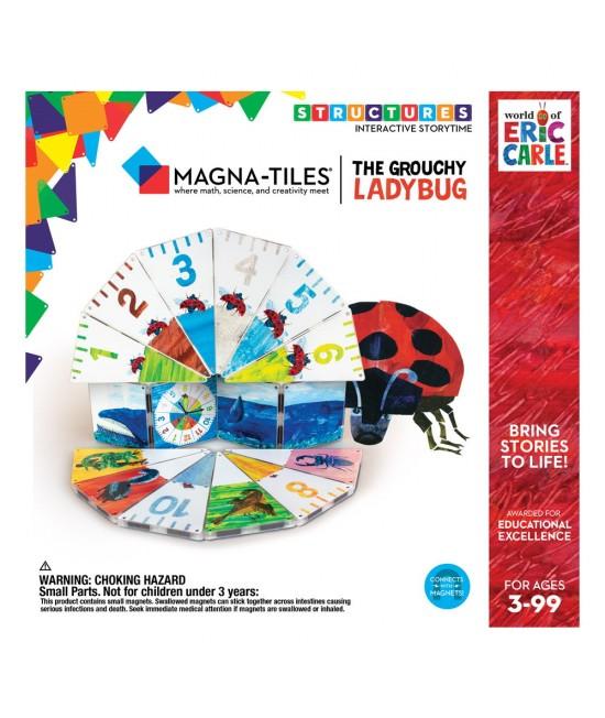 """Set Magna-Tiles Structures CreateOn Eric Carle """"Gărgărița morocănoasă""""  - 16 piese magnetice de construcție imprimate"""