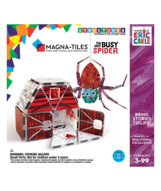 """Set Magna-Tiles Structures CreateOn Eric Carle """"Păianjenul cel harnic""""  - 17 piese magnetice de construcție imprimate"""