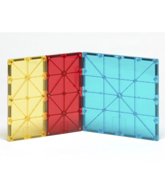 Set Magna-Tiles de extindere - 8 dreptunghiuri magnetice de construcție transparente colorate