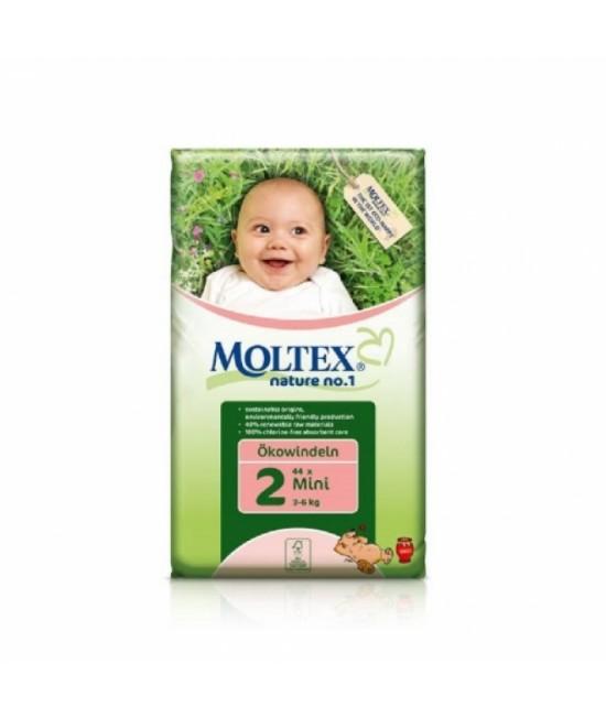 Scutece ecologice de unică folosință Moltex Nr. 2 Mini (3-6 kg) - 44 bucăți