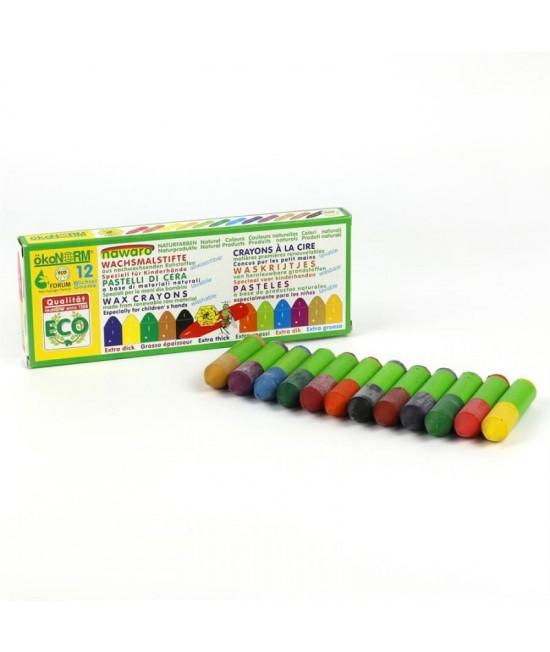 12 mini-creioane cerate naturale ökoNORM nawaro Gnome (pitice)