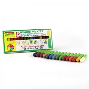 15 creioane cerate naturale pentru textile ökoNORM WAX Tex nawaro
