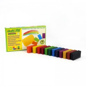 12 creioane cerate naturale blocuri ökoNORM nawaro