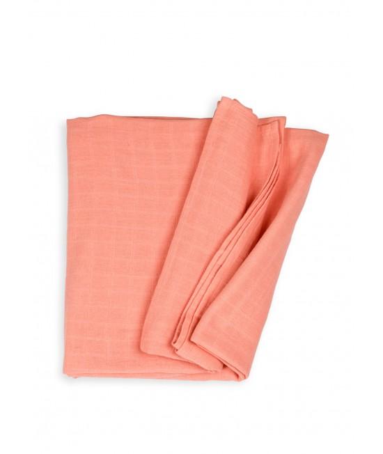 Păturică de înfășat din muselină de bumbac organic Organic by Feldman pentru copii - Play of Colors Canyon Sunset