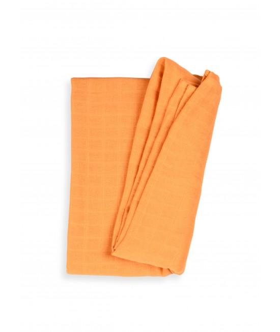 Păturică de înfășat din muselină de bumbac organic Organic by Feldman pentru copii - Play of Colors Sun Ochre