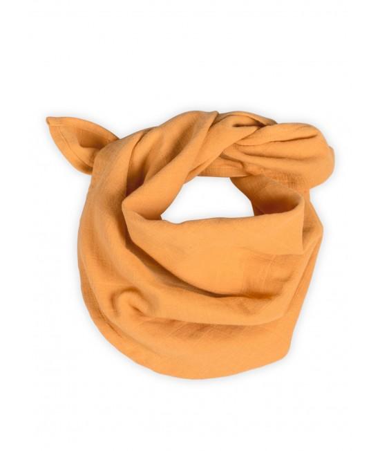 Eșarfă din muselină de bumbac organic Organic by Feldman pentru bebeluși și copii - Play of Colors Sun Ochre