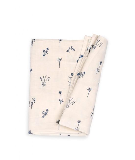 Păturică de înfășat din muselină de bumbac organic Organic by Feldman pentru copii - Plants Delight