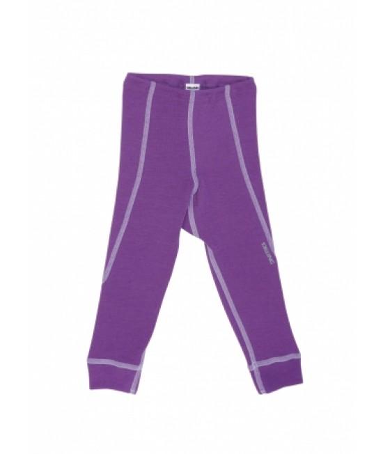 Pantaloni mov (leggings, colanți) din lână Merinos organică Dilling Underwear pentru bebeluși