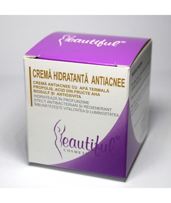 Cremă hidratantă anti-acneică naturală cu apă termală Beautiful Cosmetics Phenalex