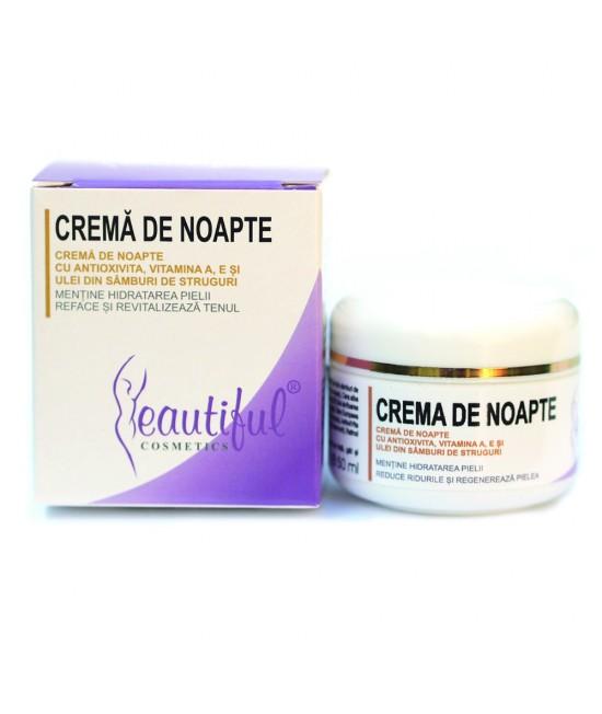 Cremă nutritivă de noapte naturală cu Antioxivita și Vitamina E Beautiful Cosmetics Phenalex