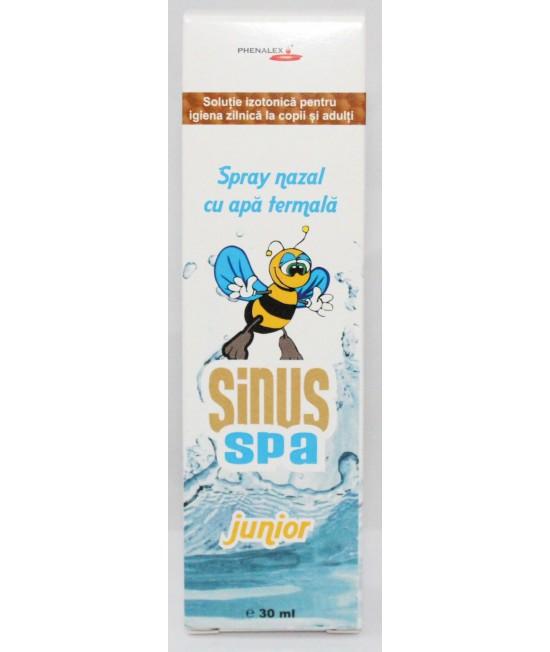 Spray nazal cu apă termală, extract de propolis și sare de mare organică purificată Sinus Spa Junior Phenalex