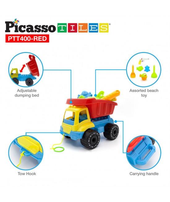 Set pentru plaja PicassoTiles - camion cu jucarii