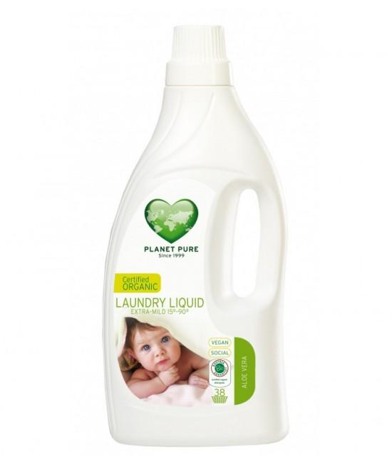 Detergent ecologic Planet Pure pentru hainele bebelușului - cu aloe vera - 1,55 litri