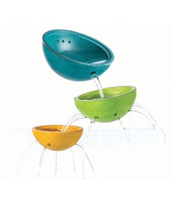 Set cu boluri din lemn ECO Plan Toys pentru joacă în apă