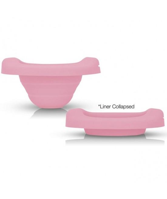 Liner reutilizabil din silicon pentru olița portabilă 2 în 1 Potette Plus - culoare roz