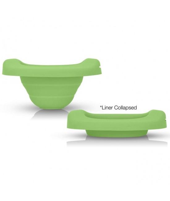 Liner reutilizabil din silicon pentru olița portabilă 2 în 1 Potette Plus - culoare verde
