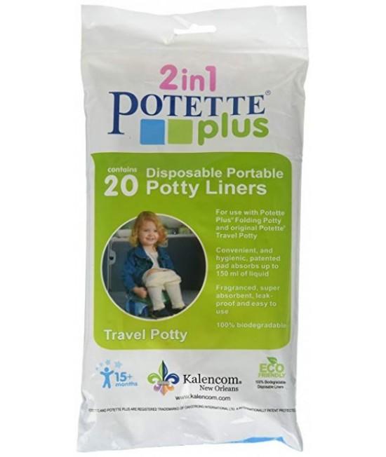 Pungi biodegradabile de unică folosință pentru olița portabilă Potette Plus - 20 buc/set