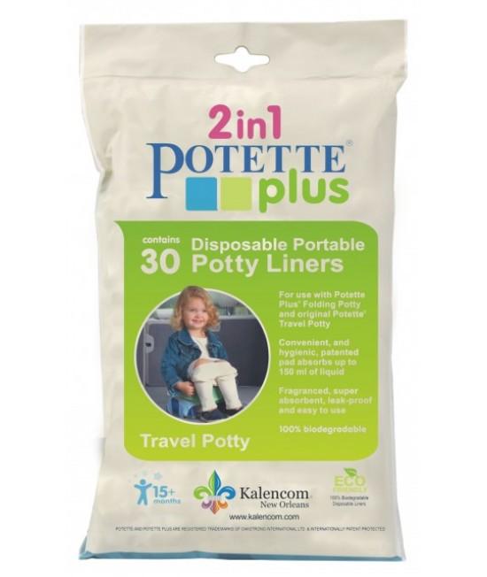 Pungi biodegradabile de unică folosință pentru olița portabilă Potette Plus - 30 buc/set