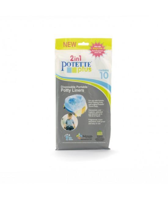 Pungi biodegradabile de unică folosință pentru olița portabilă Potette Plus - 10 buc/set