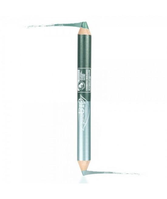 Creion BIO pentru ochi DUO (kajal+fard de pleoape) noapte PuroBio Cosmetics