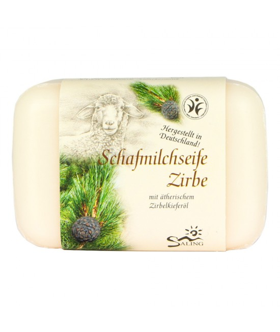 Săpun cremos cu lapte de oaie și pin (zâmbru) Saling Naturprodukte - 100 grame
