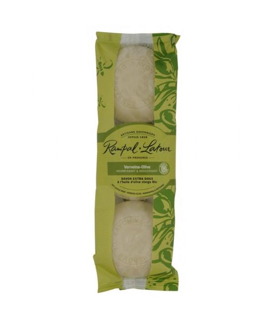 Pachet de 3 săpunuri natural Rampal Latour cu verbină și ulei de măsline