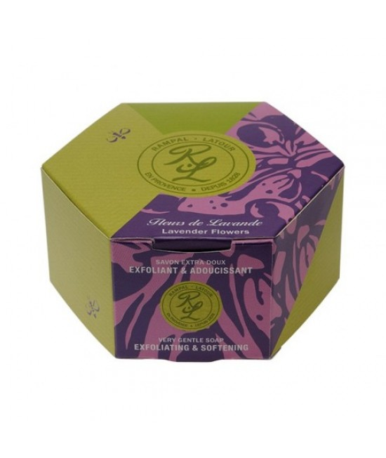 Săpun natural Rampal Latour cu flori de lavandă în cutie - 150 grame