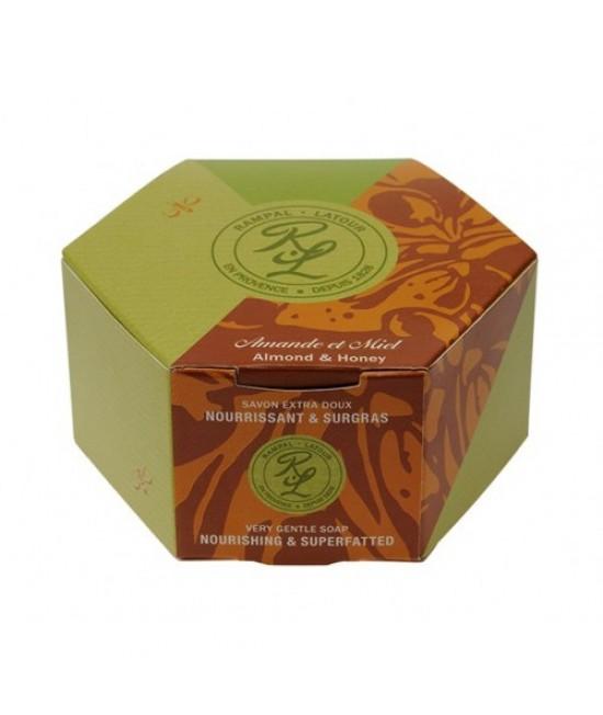 Săpun natural Rampal Latour cu migdale și miere în cutie - 150 grame