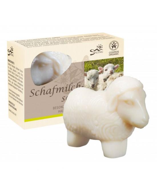 Săpun cremos natural BIO cu lapte de oaie - Oiță albă Saling Naturprodukte - 85 grame