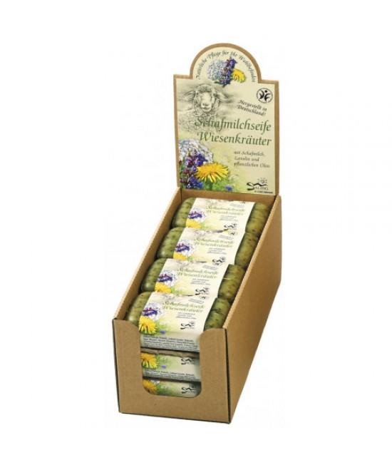 Săpun cremos natural BIO cu lapte de oaie și plante aromatice Saling Naturprodukte - 100 grame