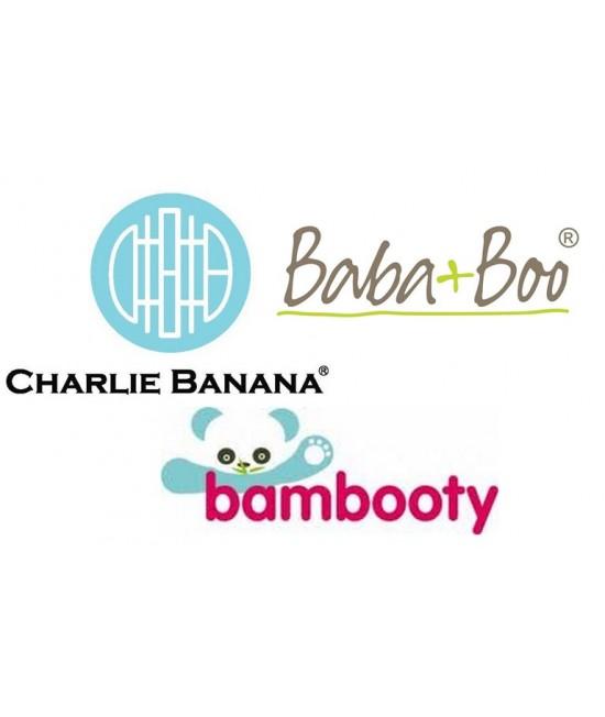 Set mixt de scutece mărime unică - Bambooty Basics - Baba+Boo - Charlie Banana
