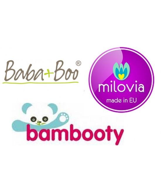 Set mixt de scutece mărime unică - Milovia - Bambooty Basics - Baba+Boo