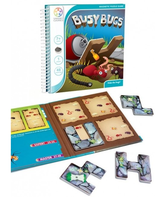 Busy Bugs - Joc Puzzle Magnetic SmartGames