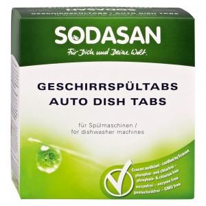 Detergent ecologic tablete Sodasan pentru mașina de spălat vase - 25 tablete (625 grame)