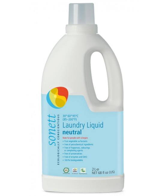 Detergent ecologic lichid Sonett Sensitive pentru rufe colorate - 2 litri