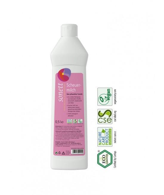 Cremă abrazivă ecologică Sonett pentru curățat suprafețe - 500 ml