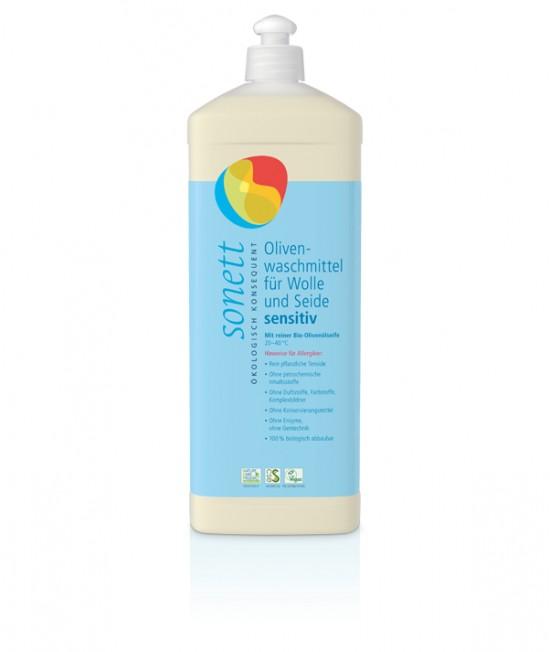 Detergent ecologic lichid Sonett Sensitive pentru lână și mătase - 1 litru