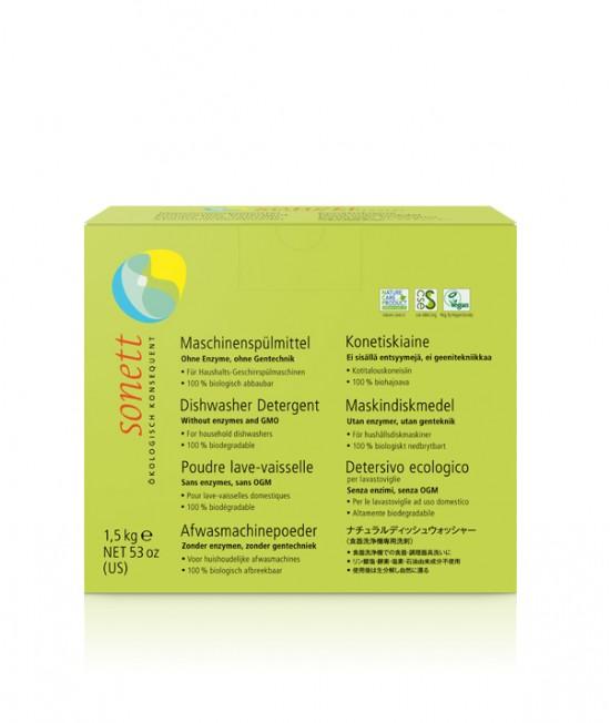Detergent ecologic praf Sonett pentru mașina de spălat vase - 1500 grame