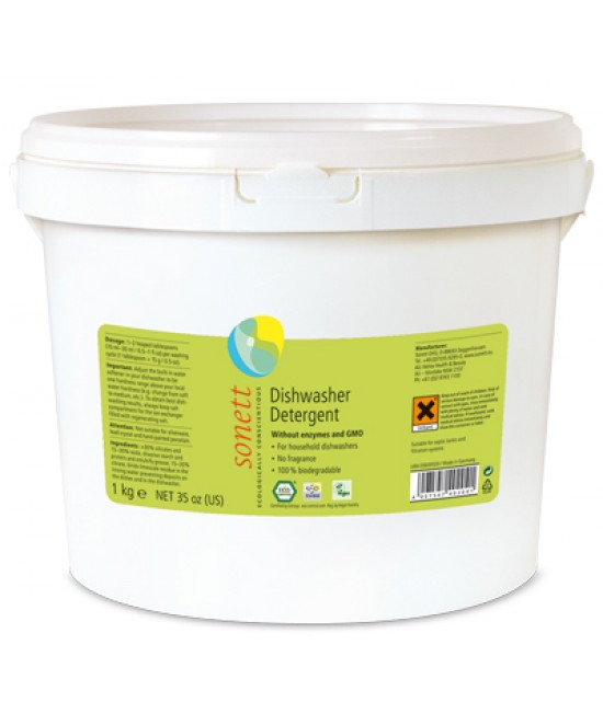 Detergent ecologic praf Sonett pentru mașina de spălat vase 1 kg