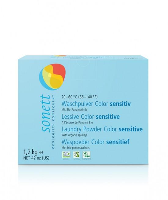 Detergent ecologic praf Sonett Sensitive pentru rufe colorate - 1200 grame