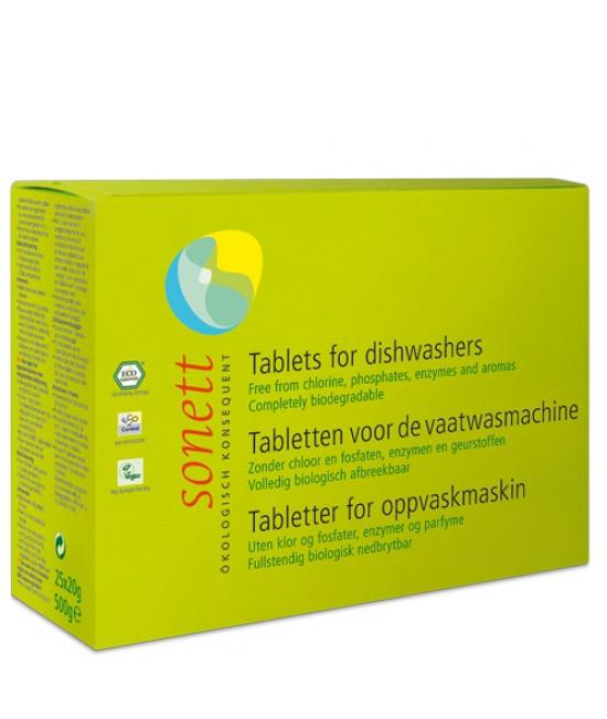 Detergent ecologic tablete Sonett pentru mașina de spălat vase - 25 tablete (500 grame)