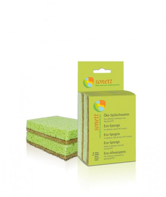 Burete ecologic Sonett pentru spălat vase - 2 bucăți