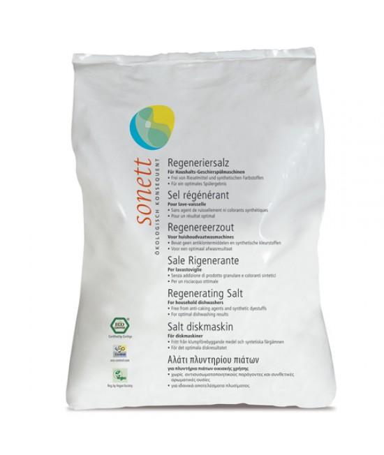 Sare regenerantă ecologică Sonett pentru mașina de spălat vase 2 kg