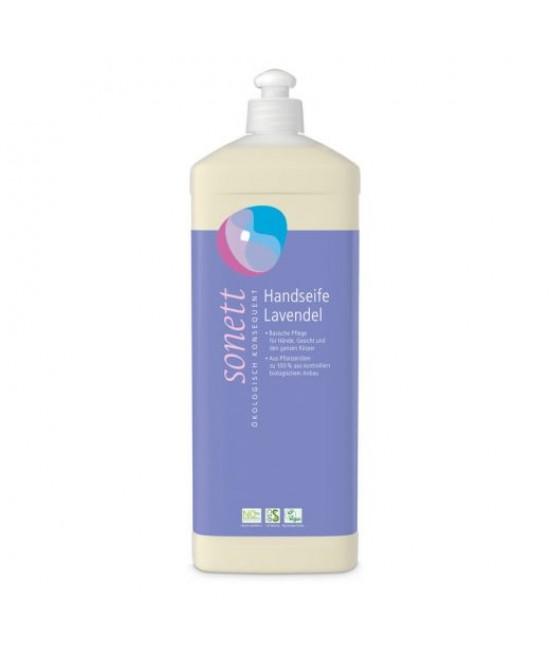 Săpun lichid ecologic Sonett cu lavandă - pentru mâini, față și corp - 1L