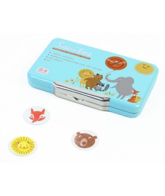 Plasturi anti-țânțari Squitos naturali pentru bebeluși, copii și adulți (cutie cu 24 de plasturi)