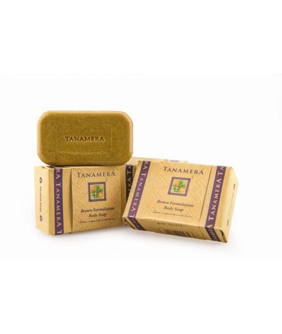 Săpun natural brun Tanamera exfoliant pentru corp