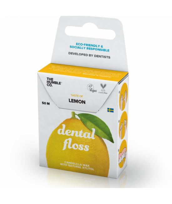 Ață dentară naturală biodegradabilă Humble Lemon - 50m