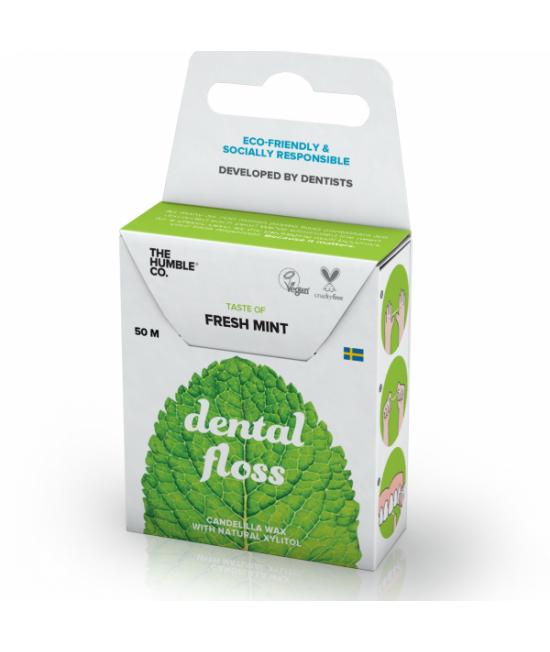 Ață dentară naturală biodegradabilă Humble Fresh Mint - 50m